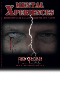 Mental 20Xperiences 20recto • Spectacles de magie mentalisme • Fred Ericksen • Magicien Lyon • Storyteller