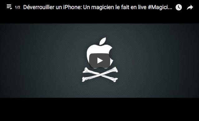 Déverrouiller un iPhone: Un magicien le fait en live