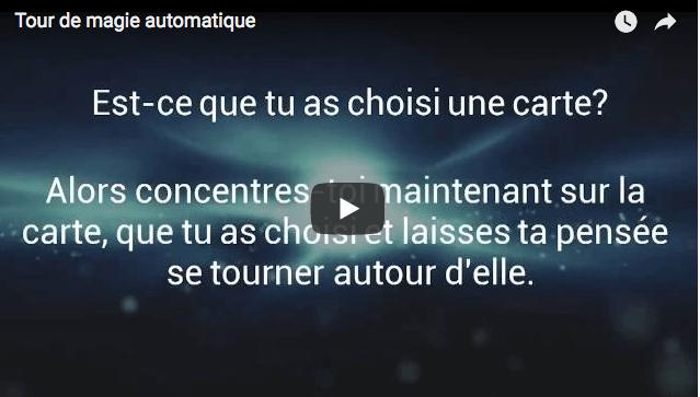 tour automatique 1 • Tour de magie automatique • Fred Ericksen • Magicien Lyon • Conférencier mentaliste
