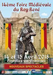 affiche fete medievale peyrolles • Fêtes médiévales Mars - Avril 2018 • Fred Ericksen • Magicien Lyon • Storyteller