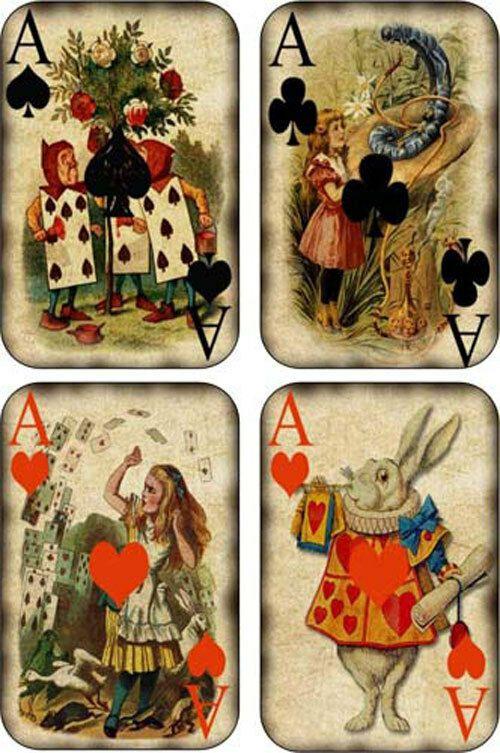 Collection privée des cartes à jouer Alice au Pays des Merveilles de Fred Ericksen