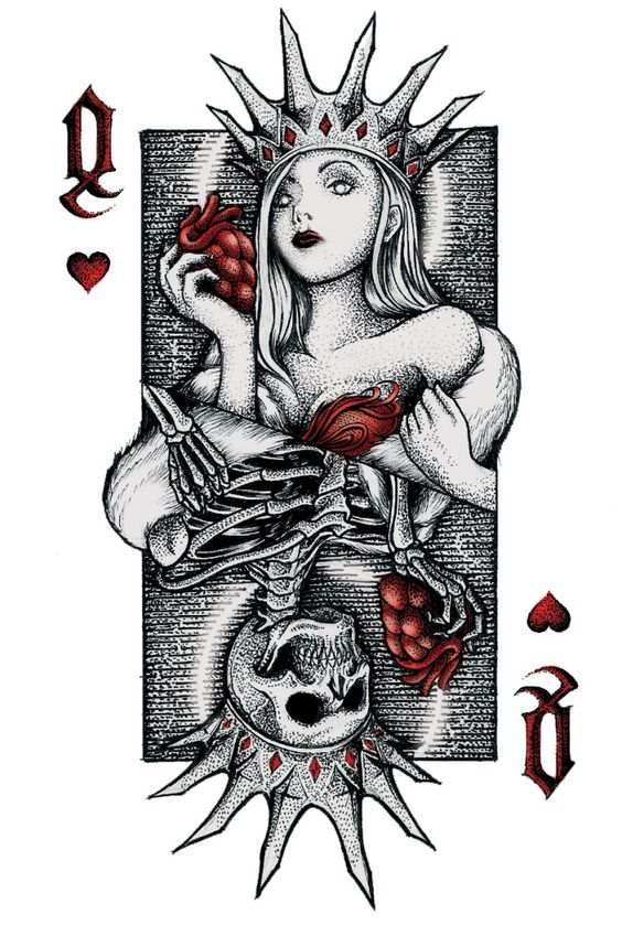 Collection privée des cartes à jouer dame de ceour de Fred Ericksen