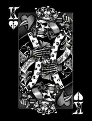 Collection privée des cartes à jouer skull de Fred Ericksen